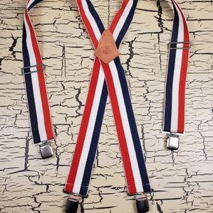 Vintage Rooster Prod Red White & Blue Suspenders